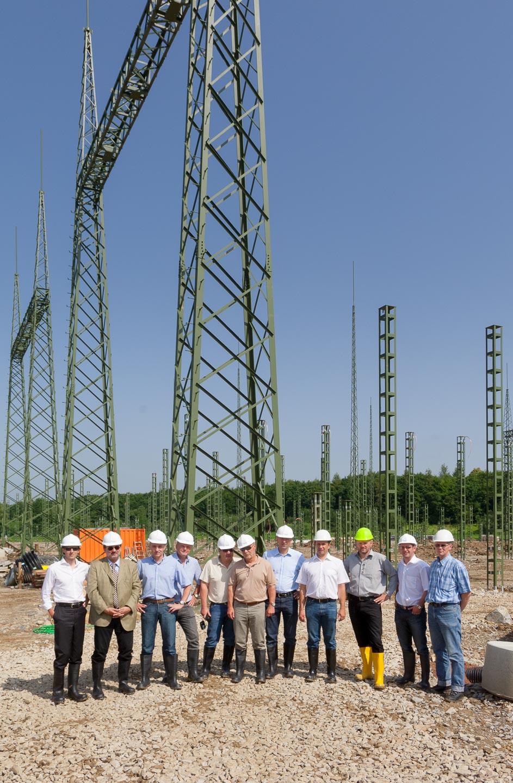 Gruppenfoto Projektteam auf Baustelle