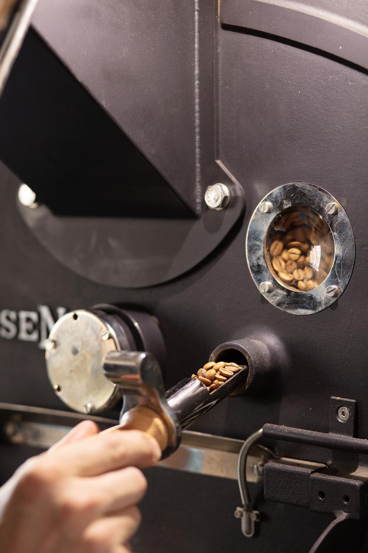Kaffeerösten Kontrolle Röstgrad