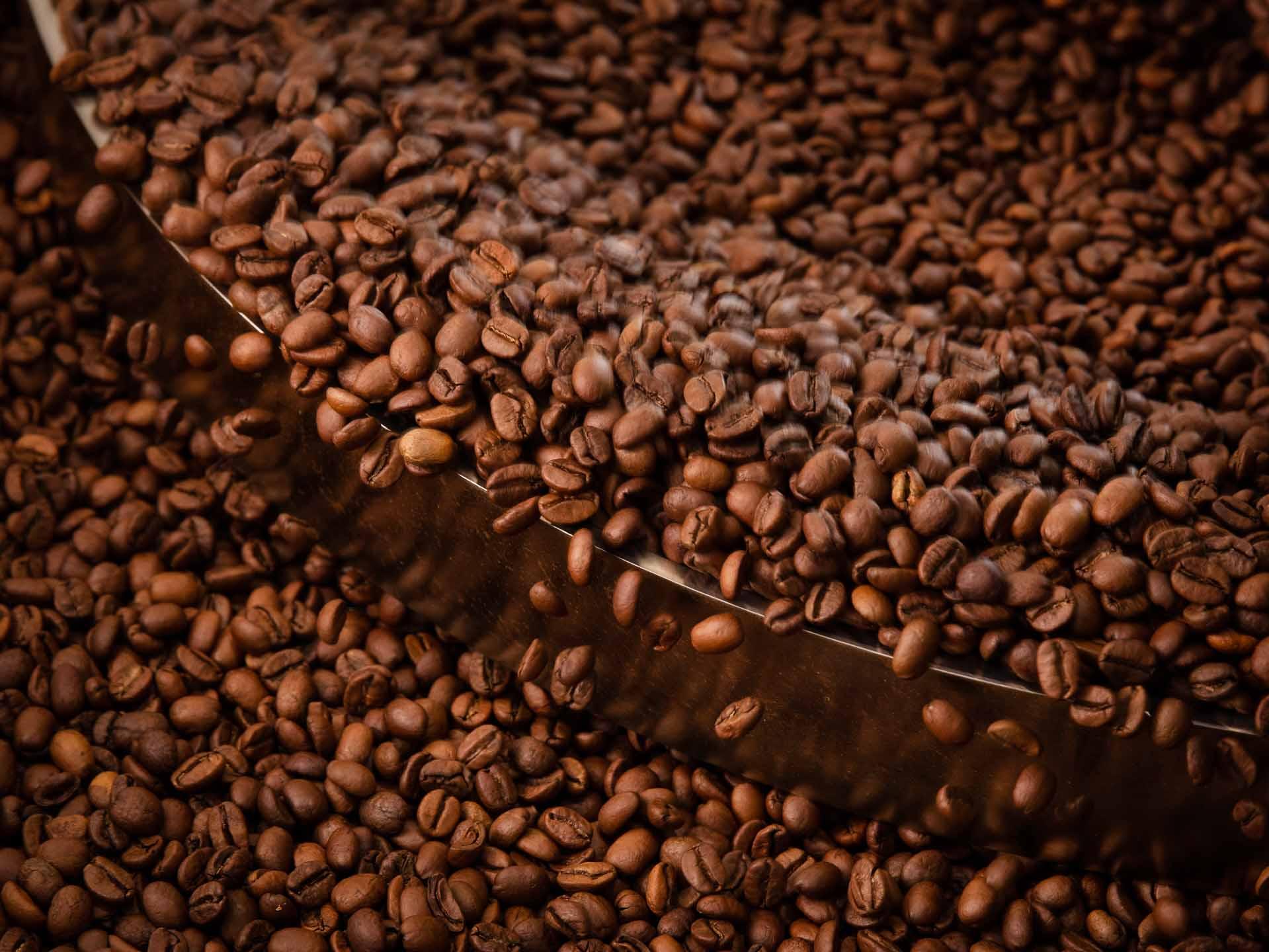 Kaffeebohnen nach dem Rösten