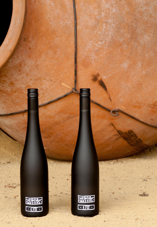 Produktfoto Weinflaschen auf Sand