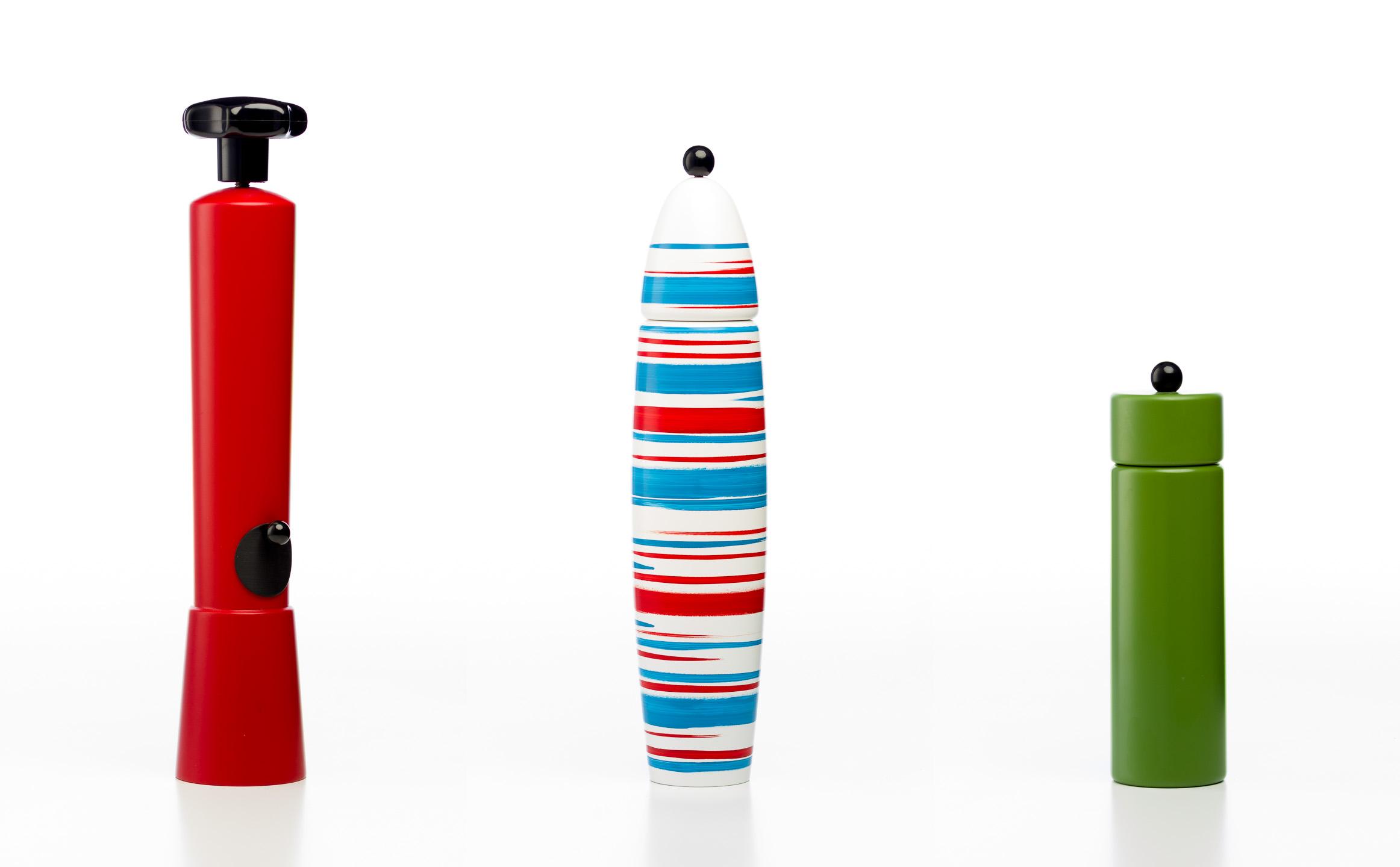 Fotos von Pfeffermühlen für Webshop oder Katalog vor weißem Hintergrund