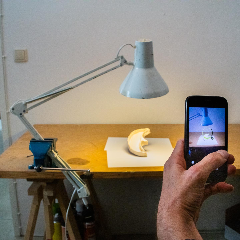 schlechter Produktfoto-Aufbau mit schlechter Kamera